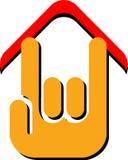 domowy ręka logo royalty ilustracja