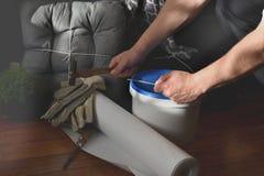 Domowy redecorating pojęcie fotografia stock