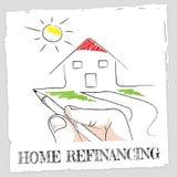 Domowy Refinansować Reprezentuje sprawiedliwości Budować I pożyczkę Fotografia Stock