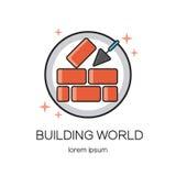 Domowy remontowy logo royalty ilustracja