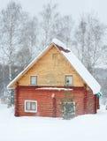 domowy rosyjski drewniany Zdjęcie Stock