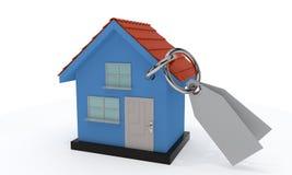 Domowy sprzedaży pojęcie, 3d rendering Obrazy Stock