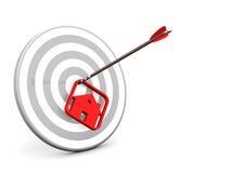 Domowy Strzałkowaty cel ilustracji