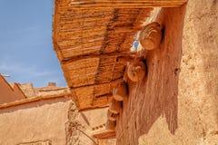 Domowy szczegół w fortecy Ait Ben Haddou Zdjęcie Stock
