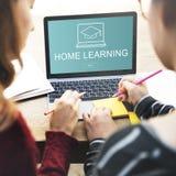 Domowy uczenie Webpage rejestru guzika pojęcie Zdjęcia Royalty Free