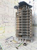 Domowy układ I Architektoniczni rysunki Fotografia Royalty Free