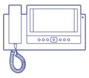 Domowy videophone indoors Ilustracja Wektor