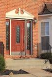 Domowy wejście z burzy drzwi Fotografia Stock