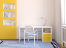 domowy wewnętrzny biuro ilustracja wektor