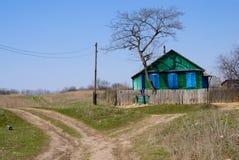 domowy wiejski drewniany Zdjęcie Royalty Free