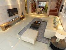 Domowy wnętrza 3d rendering Zdjęcia Stock