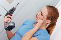 Domowy wykonywać ręcznie, cordless zdjęcie stock