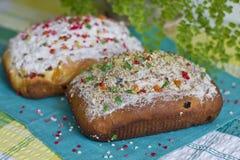 Domowy wypiekowy Wielkanocny chleb Zdjęcia Stock