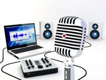 domowy wyposażenia studio nagrań Fotografia Stock