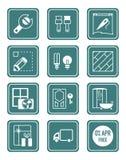 domowych ikon serii remontowa cyraneczka Zdjęcie Royalty Free