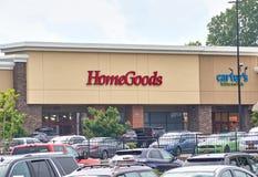 Domowych towarów parking i sklep obrazy stock
