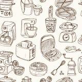 Domowych urządzeń o temacie doodle Bezszwowy wzór Zdjęcia Stock