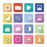 Domowych urządzeń ikony w płaskim projekcie ustawiają 3 Obraz Stock