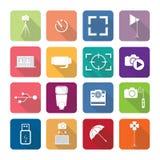 Domowych urządzeń ikony w płaskim projekcie ustawiają 3 Fotografia Stock