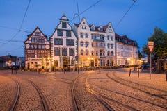Domplatz en Erfurt Foto de archivo libre de regalías