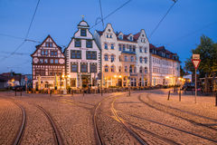 Domplatz in Erfurt Lizenzfreies Stockfoto