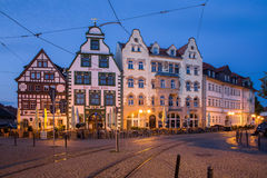 Domplatz in Erfurt. The historic square Domplatz in Erfurt at night, Germany royalty free stock photo
