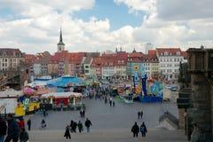 Domplatz, Erfurt, Thuringia, Duitsland Stock Afbeeldingen