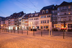 Domplatz i Erfurt Royaltyfri Bild