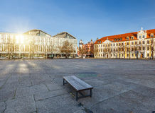 Domplatz in Magdeburg. Germany, at sunny day stock photography