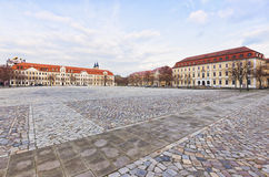 Domplatz square, Magdeburg. Domplatz square at Magdeburg with Parliament of Saxony-Anhalt and Ministry of Justice buildings stock photography