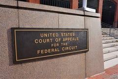 Domstol av vädjaner för den federala strömkretsen i DC royaltyfri fotografi