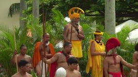 Domstol för konung Kamehameha Day Parade i Hawaii stock video
