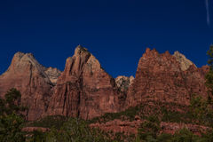 Domstol för Zion Canyon ` s av patriarkerna Royaltyfri Fotografi