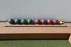 Domstol för Bocce boll Arkivbild