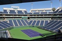 Domstol för trädgårds- mitt för Indian Wells tennis Arkivbilder