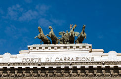 domstol rome royaltyfria bilder