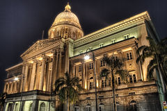 domstol suveräna gammala singapore Royaltyfri Foto
