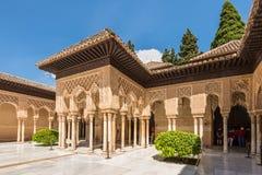 Domstolen av lejonen, ett unikt exempel av muslimsk konst Royaltyfria Foton
