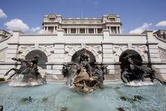 Domstolen av Neptunspringbrunnen Royaltyfri Foto