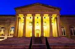 Domstolen av vädjaner på natten i Washington, DC Arkivbilder