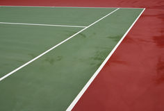 domstolen lines tennis Royaltyfri Foto