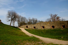 Domstolen på slotten Arkitekturmonument Royaltyfri Foto