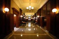 domstolkorridor Arkivfoto