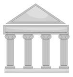 domstolsbyggnad stock illustrationer