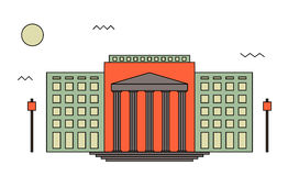 Domstolsbyggnad- eller institutionavdelning Royaltyfri Foto