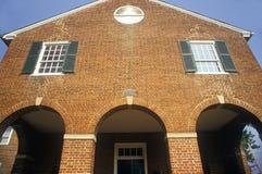 Domstolsbyggnad för röd tegelsten, Fairfax County, VA Fotografering för Bildbyråer