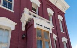 Domstolsbyggnad i Eureka Nevada Arkivfoton