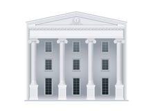 Domstolsbyggnad i klassisk stil Royaltyfri Foto