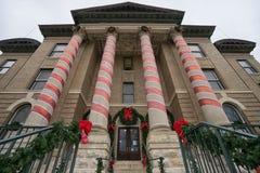 Domstolsbyggnad i San Marcos Texas arkivfoton