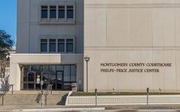 Domstolsbyggnad på Montgomery Alabama Arkivbilder